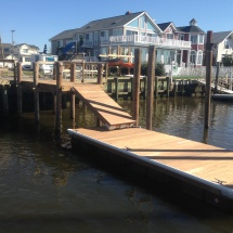 15 pier with IPE custom float and gangway